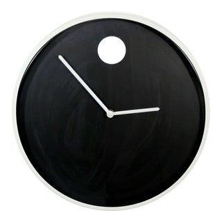 Mid Century Modern Vintage Nathan Horwitt Howard Miller Chrome Wall Clock 1970s For Sale