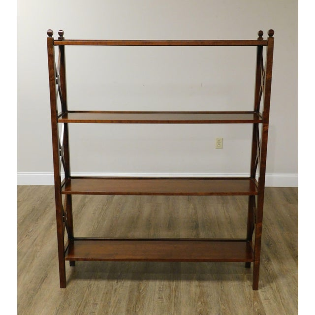 Traditional Grange French Cherry 4 Tier Bookshelf For Sale - Image 3 of 13