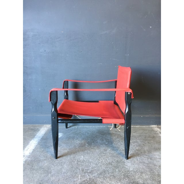 1980s 1980's Red Safari Chair For Sale - Image 5 of 11