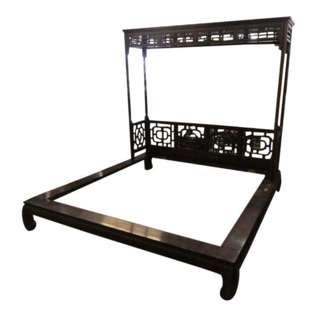 Chinese Canopy Ming Leg Platform King Bedframe For Sale