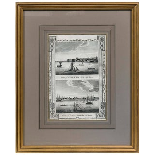 Framed Print, English Harbor Views, Early 19th Century For Sale