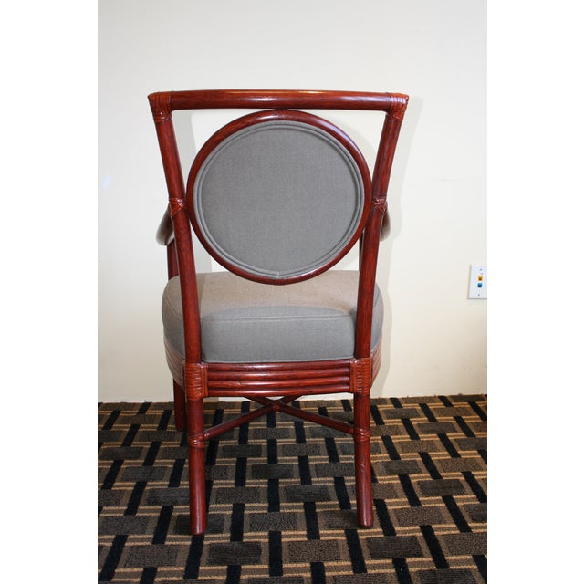 McGuire Orlando Diaz-Azcuy Salon Dining Arm Chair - Image 5 of 8