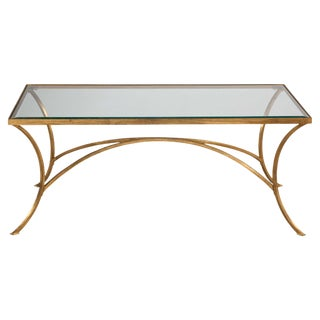 Gold Cocktail Table For Sale