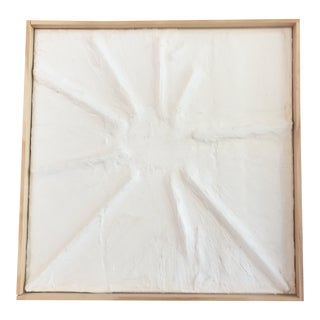 'Sun Flare' Minimalist Plaster Painting For Sale