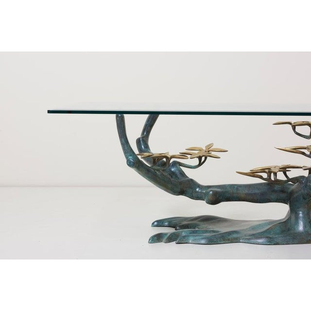 Metal Brass Bonsai Tree Coffee or Side Table in the Manner of Willy Daro For Sale - Image 7 of 13