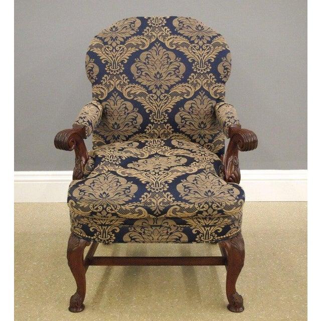 Mahogany Library & Wing Chair - Pair - Image 5 of 11