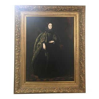 18th Century Style Painting of a Noblewoman Painting, Signed by the Artist J Lorraine For Sale