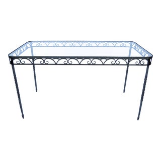 1930s Art Deco Wrought Iron Desk For Sale