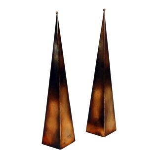 Pair of Tall 'Pyramide' Console or Floor Lamps by Design Frères For Sale