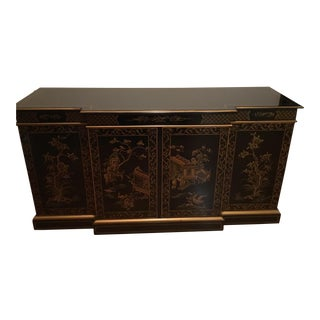 Vintage Drexel Heritage Chinoiserie Credenza / China Cabinet For Sale
