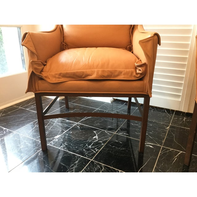 Metal 1990s Vintage Leather Chairs- a Pair For Sale - Image 7 of 13