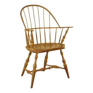 James Rendi Custom Painted Windsor Style Armchair For Sale
