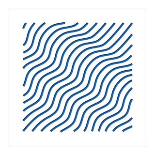 Chuck Krause Waves (Blue), original three dimensional geometric design wall relief 2020 For Sale