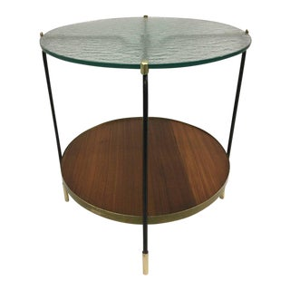Italian Mid-Century Double Tier Bar or Side Table in Style of Fontana Arte