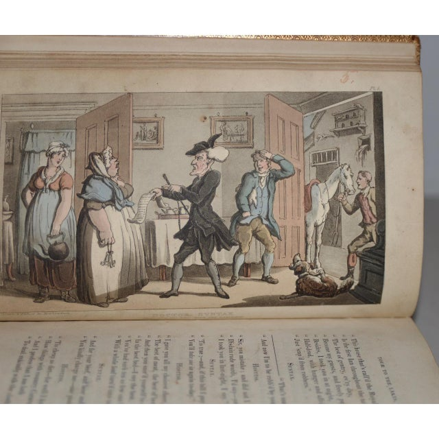 Early 19th Century Leather-Bound Books With Engravings by Rowlandson - a Pair For Sale - Image 10 of 13