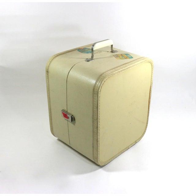 1950s Vintage Leather Hard Travel Case - Image 9 of 9