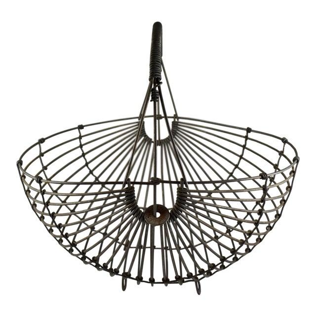 1970s Karl Howard Galvanized Steel Handmade Art Basket, Signed For Sale