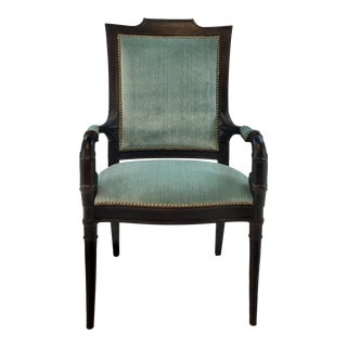 Transitional Hickory Chair Decorative Arm Chair For Sale