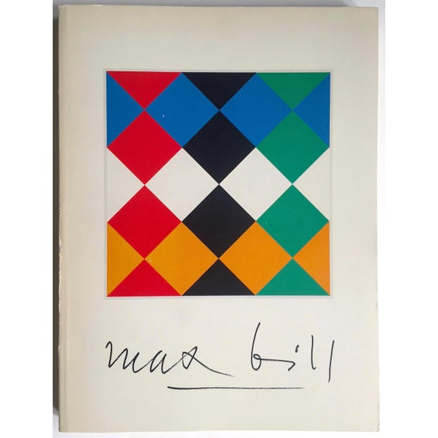 """ Max Bill "" Rare Vintage 1974 Lmtd 1st Edtn Iconic Museum Exhibition Catalogue Modernist Collector's Book For Sale - Image 13 of 13"