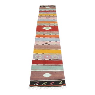 Mid 20th Century Turkish Kilim Runner-1′11″ × 8′5″ For Sale