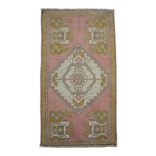 """Front of Kitchen Sink Rug Hand Made Bath Mat Faded Stylish Mini Rugs 1'8"""" X 3' For Sale"""