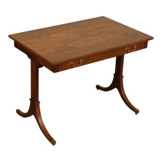 J S Inc. John Stuart New York Regency One Drawer Rosewood Occasional - Writing Desk Brass Inlay For Sale