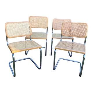1970s Vintage Marcel Breuer Cesca Chairs- Set of 4 For Sale
