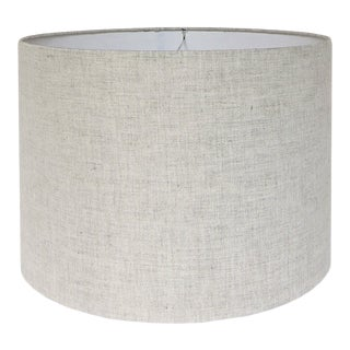 Natural Linen Drum Lamp Shade 14x14x11 For Sale