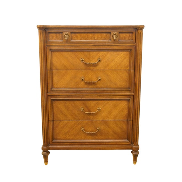 """20th Century Italian Century Furniture Neoclassical Tuscan Style 36"""" Chest of Drawers For Sale"""