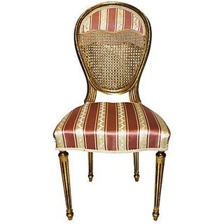 French Louis XVI-Style Gilt Chair For Sale