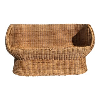 Eero Aarnio Rattan Settee For Sale