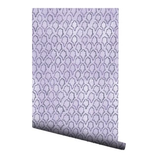 Lavender Geometric Tile Pre-Pasted Wallpaper