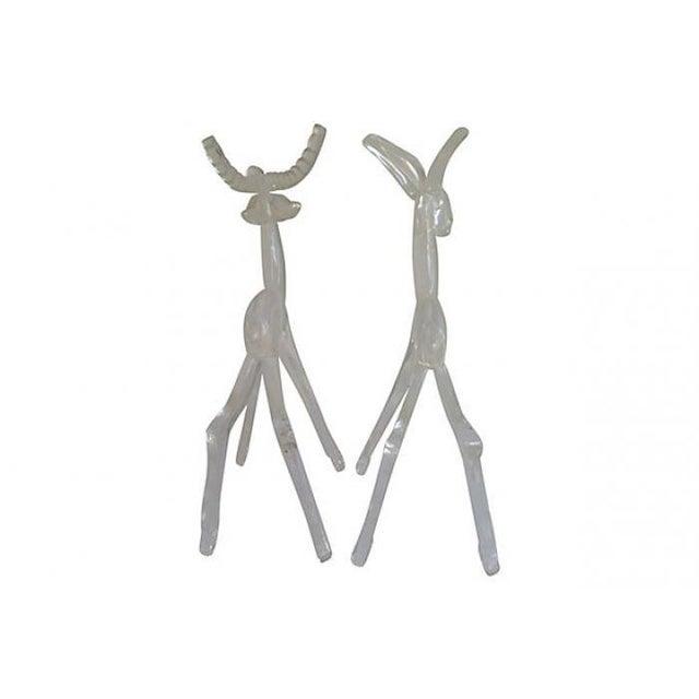 Midcentury Lucite Deer - Pair - Image 3 of 4