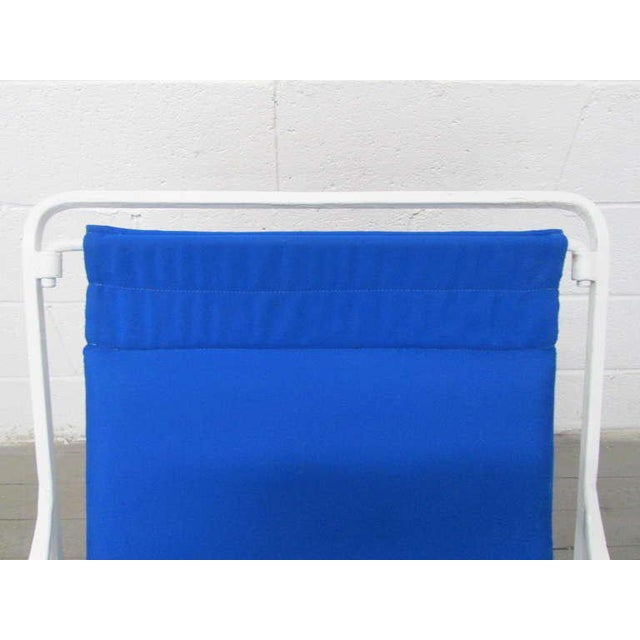 Blue Pair of Wrought Iron Lounge Chairs For Sale - Image 8 of 9
