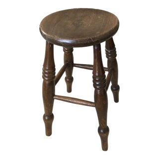 19th Century Elm and Pine Stool For Sale