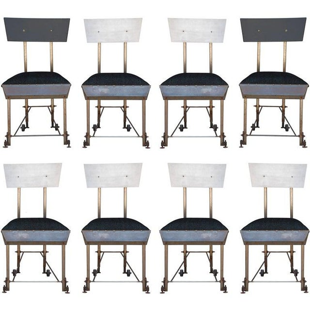 Set of 8 One-Of-A-Kind Modernist Dining Chairs For Sale - Image 12 of 12