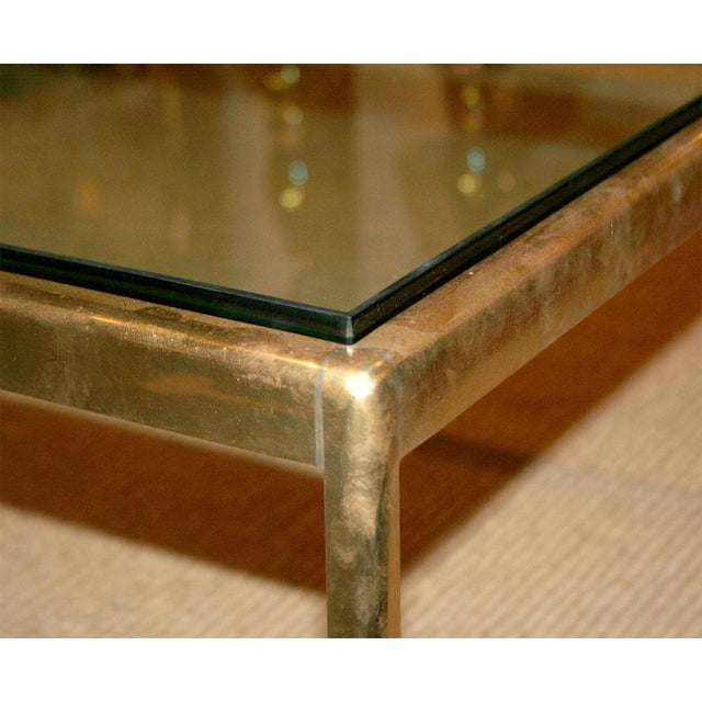Scope Bronze and Bird's Beak Glass Top Terry Table for Scope Furniture For Sale - Image 4 of 5