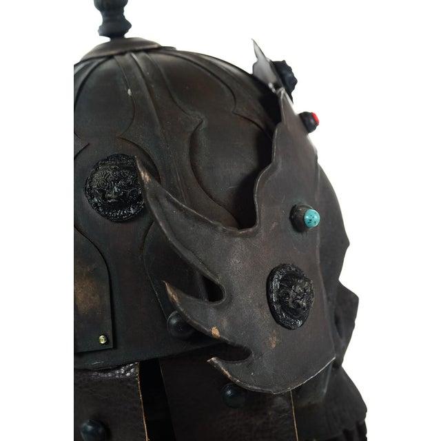 Chinese Bronze Warrior Helmet For Sale - Image 5 of 9