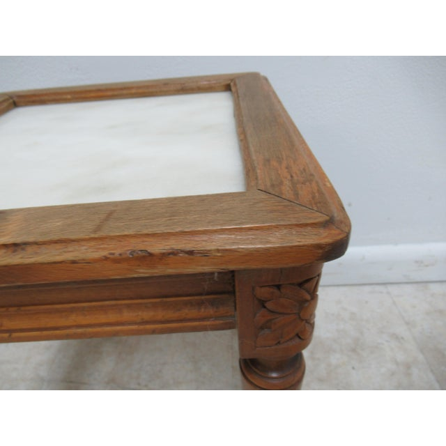 1930s 1930s French Carved Marble Top End Table For Sale - Image 5 of 12