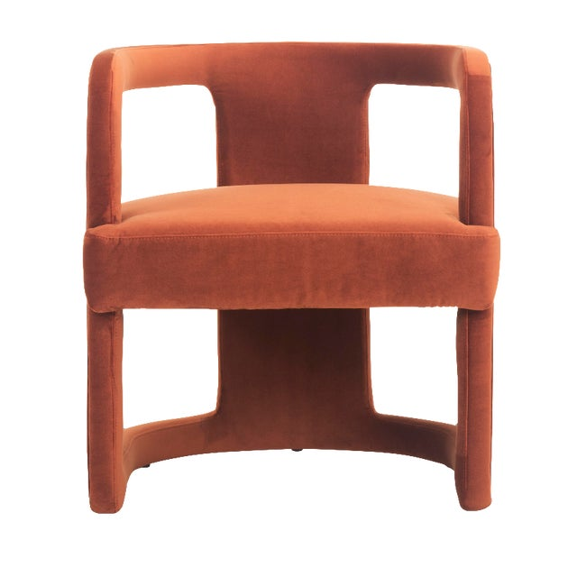 Rory Side Chair in Rust For Sale