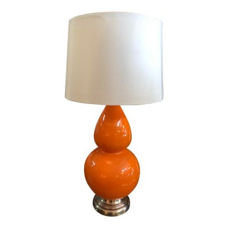 Double Gourd Shaped Orange Lamp For Sale