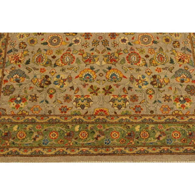 Istanbul Crysta Lt. Gray/Lt. Green Turkish Hand-Knotted Rug -4'2 X 6'3 For Sale In New York - Image 6 of 8