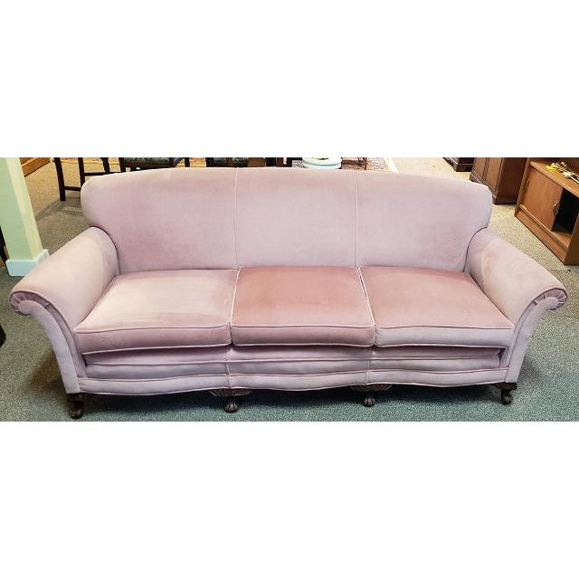 Vintage Sofa W/ Light Pink Fabric C.1960s For Sale In San Francisco - Image 6 of 6