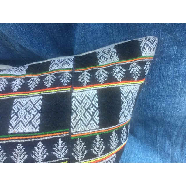 Asian Tribal Textile Pillow - Image 3 of 6