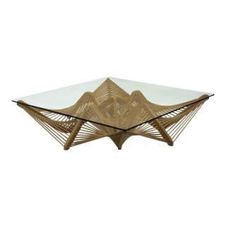 Geo Coffee Table, Natural For Sale
