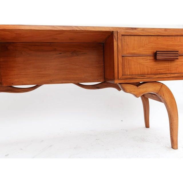 1960s Scapinelli 1960s Brazilian Caviuna Console Table Desk For Sale - Image 5 of 9