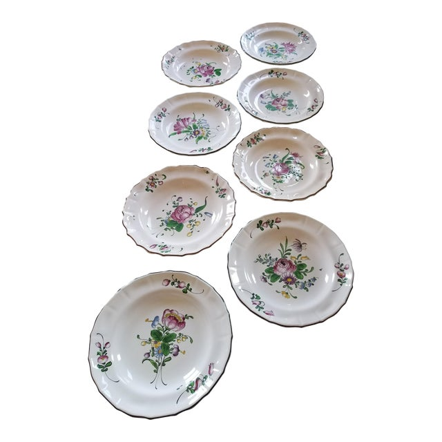 French Faience Bowls Set of Eight For Sale