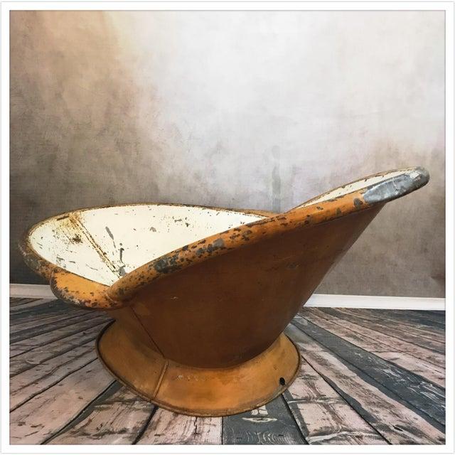 Antique French Zinc Bathtub - Image 5 of 11