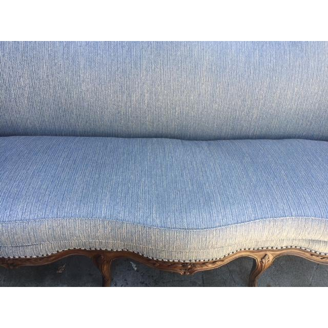 18th Century French Walnut Camel Back Sofa For Sale - Image 11 of 13