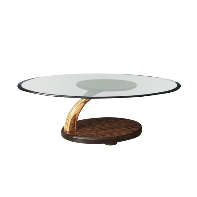 Vintage Henredon Sculptural Floating Burl Wood Coffee Table